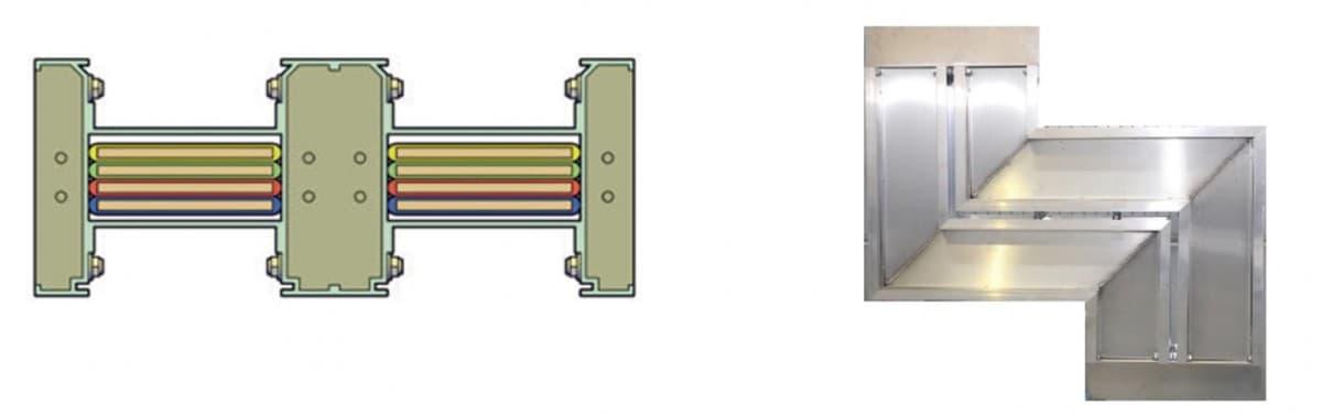 Двойной конструктив шинопровода
