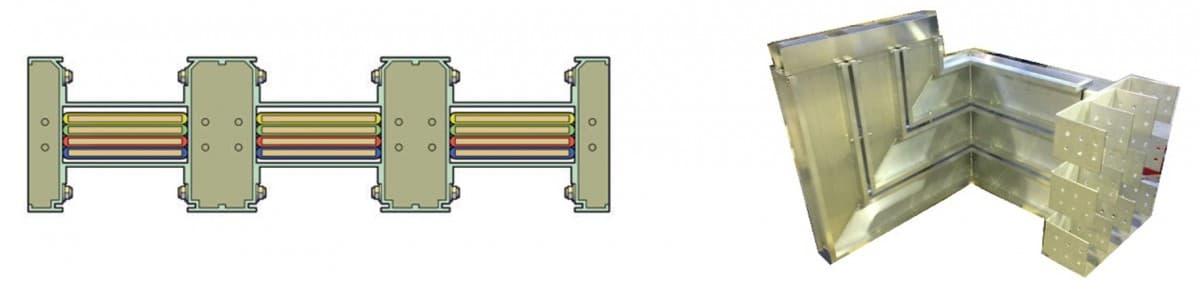 Тройной конструктив шинопровода