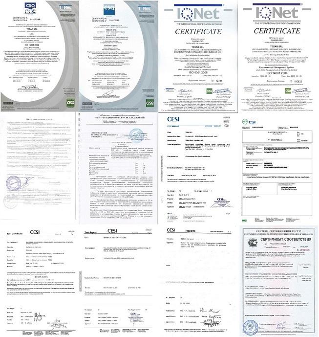 Сертификаты Tesar